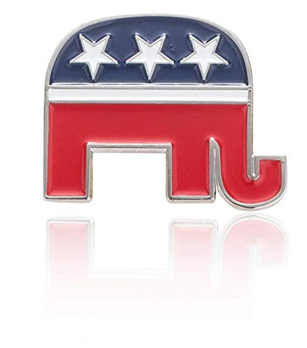 - Donald J. Trump GOP Republican Political and Patriotic Elephant Lapel Pin