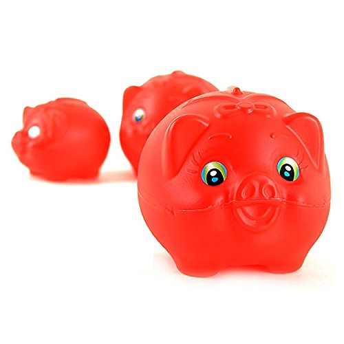 Korea Drama Lovers in Paris Piggy Bank Red Pig Coin Bank : Extra Large (Large Pig Bank)