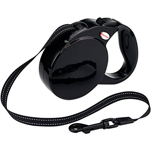 Sminiker Professional Retractable Dog Leash With Durable, Thick&Adjustable 16ft Dog Retractable Leash Are The Best Pet Leash Dog Lead For Small, Medium, Large Dogs To Training, Walking, Jogging(Black)