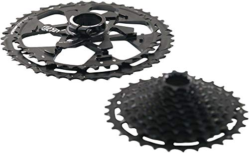 Chromoly Cassette - ethirteen Components TRS Plus 12-Speed Cassette Black, 9-46t