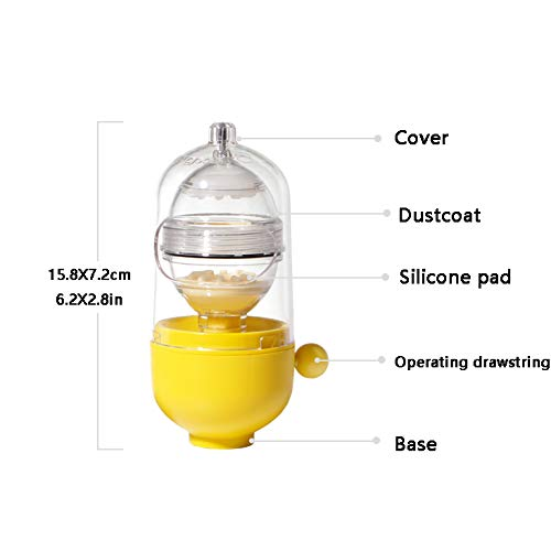 JAMOR Egg Beater Gold Egg Maker Egg Yolk Filter Egg Separator Egg Fusion Egg Mixer Make Eggs That Kids Love