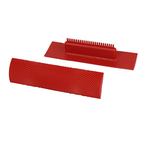 uxcell-ms9-6-inch-home-household-wall-art-paint-rubber-wood-graining-diy-tool-red-2pcs