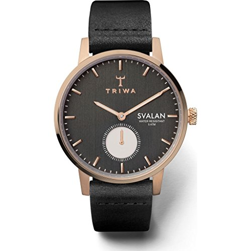 Triwa Noir Svalan Classic Super Slim Watch | Black
