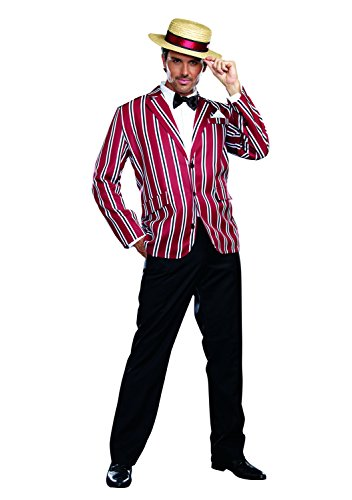 Dreamgirl Men's Good Time Charlie 1920s Style Costume, Multi, (Good Time Girl Costumes)