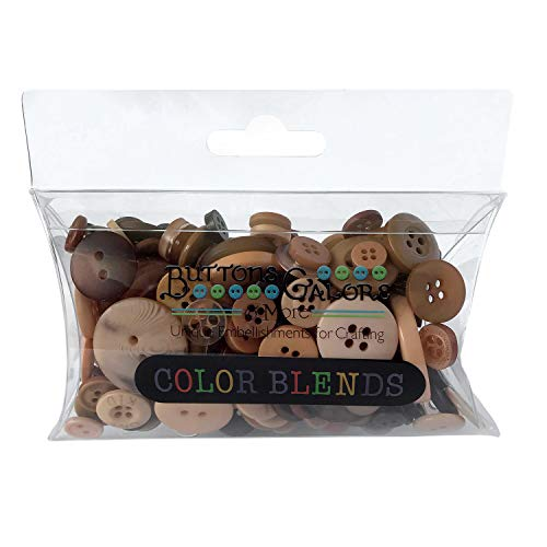 Buttons Galore CB111 Color Blend Buttons, 3-Ounce, Latte, 3 Shades of Brown