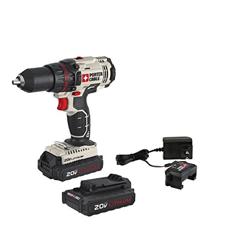 PORTER-CABLE PCC601LB 20V Max 1/2-Inch Lithium Ion Drill/Driver