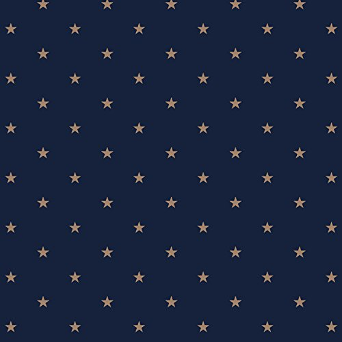 Stitch & Sparkle Fabrics, Nautical, Nautical Star Navy Cotton Fabrics, Quilt, Crafts, Sewing, Cut by The Yard