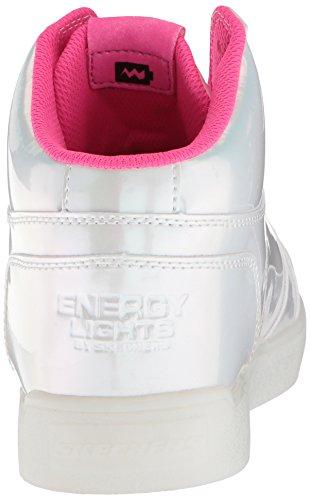 Princess hot pro Niñas Energy Pearl Pink Para Skechers Altas Rosa Whp E Lights white Zapatillas w47qwxfXt