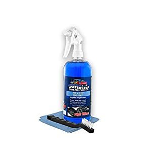 Dualpolymer Tire & Dash High Shine - Interior Cleaner - Tire & Plastic UV Protection - So Hard On Dirt You Can Degrease Your Engine - Blue Terry Cloth And Trim Brush Included