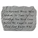 Stepping Stone- No farewell words by Kay Berry Inc