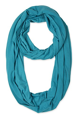 corciova Light Weight Infinity Scarf with Solid Colors Cerulean ()