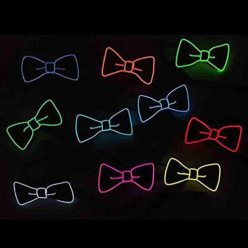 Lumineux nœud Décoration Par Carnaval De Amasawa Fluorescent Une Flash Bar Pour Nuit cosplay Néon Batterie Avec trois Alimenté Vert Papillon Nœud À halloween Modes Fête spectacles Unisexe Led RvvxwEt4q