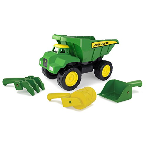 TOMY John Deere 15'' Big Scoop Dump Truck with Sand Tools by TOMY