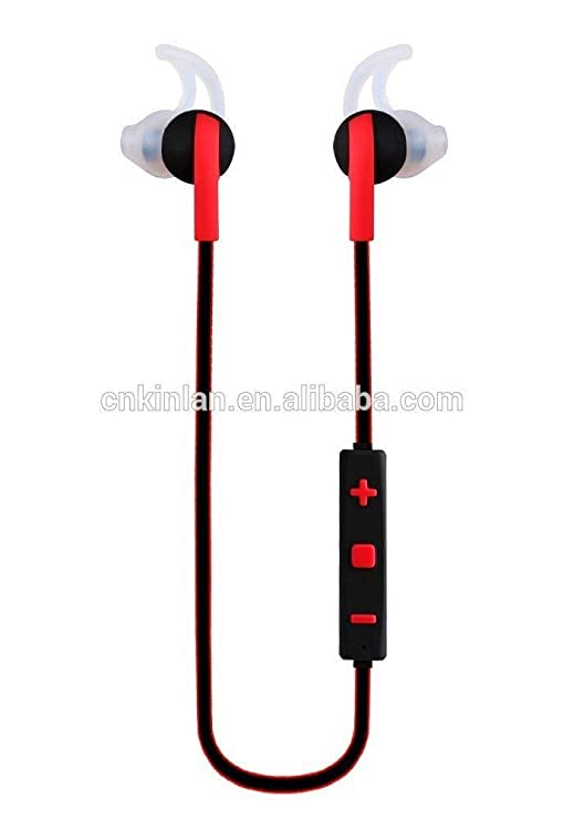 Tzumi Rechargeable Bluetooth Stereo ProBuds Sports Earbuds Headphones with Bass, Mic, Remote (Red) Mobile Phone Bluetooth Headsets at amazon