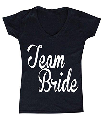Womens Bridesmaids Team Bride V neck