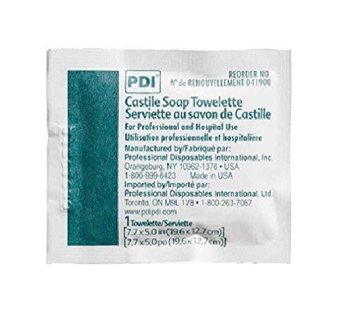 PDI Healthcare D41900 Castile Soap Towelette, 2% Coconut Oil (Pack of 1000)