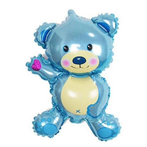 BleuMoo 1PC 45cm New Bear Birthday Party Balloon Cartoon Balloon Wholesale Decoration (blue)
