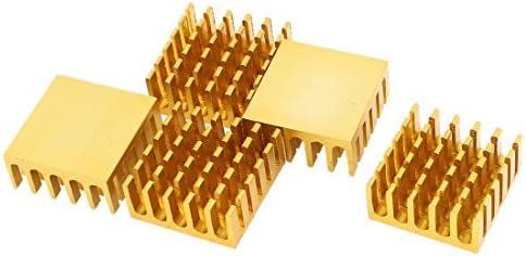GUWANJI 1 Pcs Gold Tone Aluminum Cooler Radiator Heat Sink 22mm x 22mm x 10mm