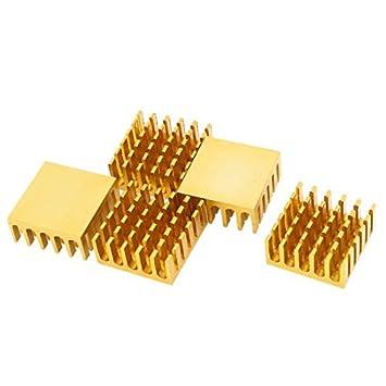 5 Tone Pcs ouro alumínio refrigerador Radiador dissipador de calor 22 milímetros x 22 milímetros x