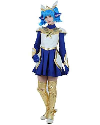 Miccostumes Women's League of Legends Star Guardian Poppy Cosplay Costume (women l)