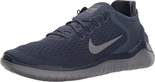 Nike Men's Free RN 2018 Running Shoes (10, Navy/Grey)