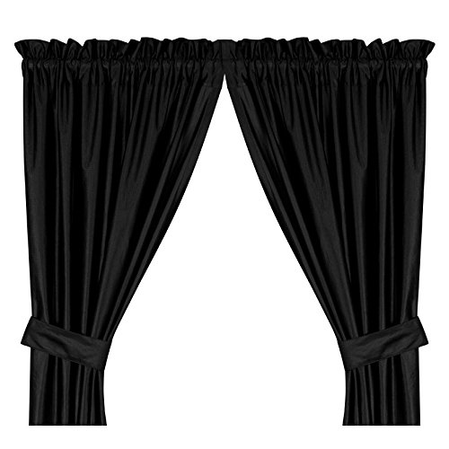 (Sports Coverage Locker Room Black Long Curtains, 82 by 84-Inch)