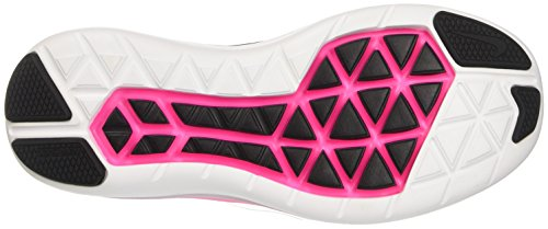 Nike Damen Flex 2016 Run Laufschuhe Schwarz (zwart / Metallic Koel Grijs / Roze Blast / Wit)