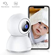 #LightningDeal Victure 1080P Home Security Camera Wireless Indoor Surveillance Camera Smart 2.4G WiFi IP camera with 2-Way Audio Night Vision Sound Detection and Motion Tracking for Baby/Pet Monitor with iOS&Android