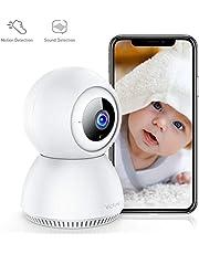 [Allez France]Victure 1080P Caméra surveillance wifi avec Detection de Sonore, Caméra Intérieur Sans Fil avec Vision Nocturne, Alerte de Detection de Mouvement, Audio Bidiectionnelle pour Bébé