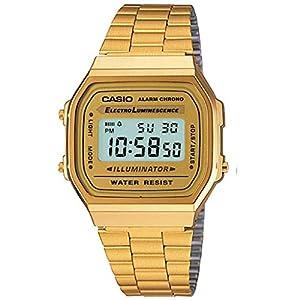 Casio Collection A168WG-9EF, Reloj Unisex, Oro 410H2qbG6kL