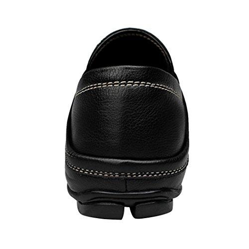 Soleil Lorence 2017 Casual Classique Respirant Soft Chaussures En Cuir Slip-on Mocassins Noir