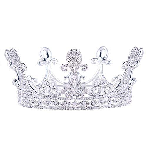Girls Crown, Beautiful headdress/Bridal Headwear Round Crown Ornaments Wedding Dress Accessories Sweet Master Wedding Accessories Diamond Crown (Color : B) by Zehaer (Image #3)