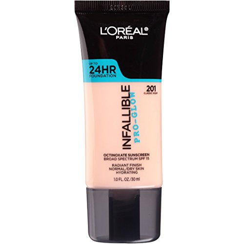 L'Oréal Paris Infallible Pro-Glow Foundation, 201 Classic Ivory, 1 fl. oz.