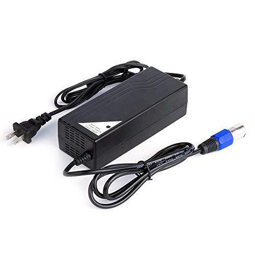 Masione 24V 4A 96W Pride - Cargador de batería para Scooter eléctrico con Conector XLR Macho de 3 Clavijas