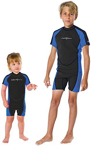 Neosport Children's 2mm Shorty Back Zip Wetsuit, 8 Blue/Black