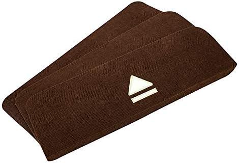 Antideslizante de goma huella de peldaño Mats, 8Pieces estilo chino Europea escalera de madera maciza de reposapiés de plataforma auto-adhesivo sin pegamento esteras de hogar comerciales escaleras ant: Amazon.es: Hogar