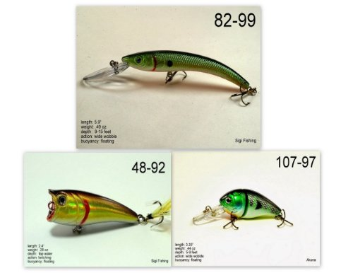 Akuna [SC] Pros' pick recommendation collection of lures for Bass, Panfish, Trout, Pike and Walleye fishing in South Carolina(Bass 3-A) (Best Bass Fishing In South Carolina)
