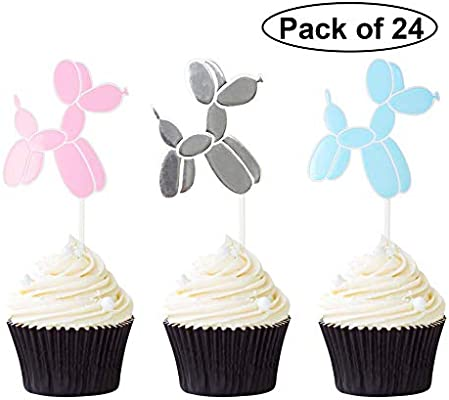 Set of 24pcs Funny Cupcake Picks Cake Topper Baby Shower Party Decoration