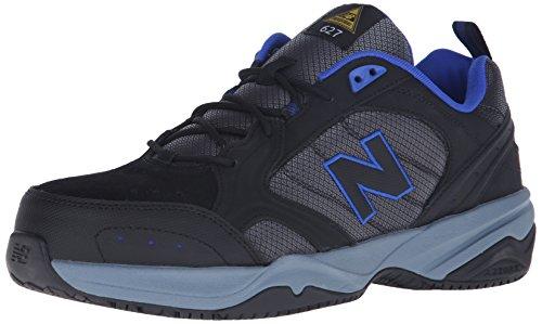 New Balance Men's Steel Toe 627 Suede Cross-Trainer Shoe, Black, 10 2E (Steel Toe Trainers)