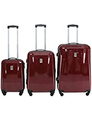 Champs Swiss Collection 3-pc Hardside Luggage Set - Champs Swiss Hardside Suitcase Set (Red)