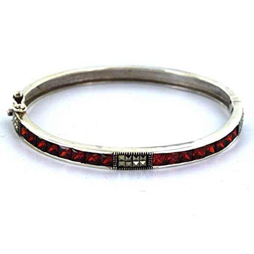 Bracelet Argent 925/1000-Rouge Rubis