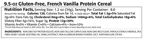 Kay's naturals protein cereal french vanilla