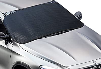 """Big Ant Car Windshield Snow Cover - Ice, Sun, Frost and Wind Proof in All Weather, Multi-used as Outdoors Picnic Mats, Yoga Mat, Tent Sleeping Pad with 77.5"""" x 27.5"""""""