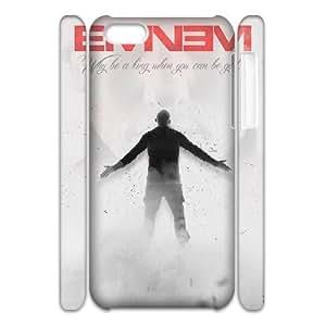 wugdiy Custom Hard Plastic Back 3D Case Cover for iPhone 5C with Unique Design Eminem