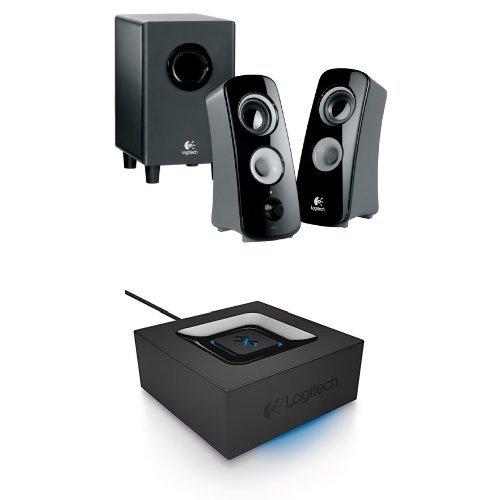 Logitech Z323 Speaker System with Subwoofer Logitech Bluetooth Audio Adapter Bundle
