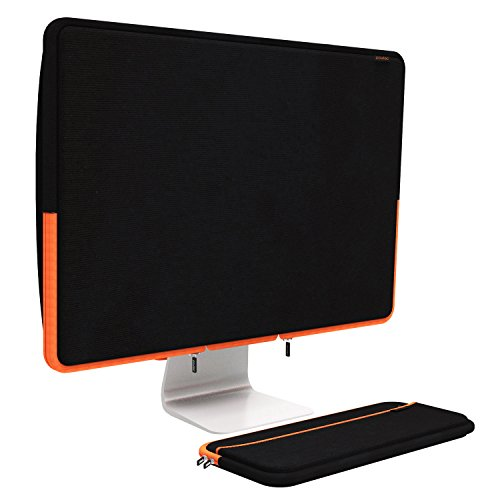 Pawtec 27-inch iMac Neoprene Full Body Sleeve Bundle for Dust Protection, Storage, or Transport Cover Case with Apple Wireless Keyboard Cover (Black 27 inch iMac) - Imac Laptop Sleeve