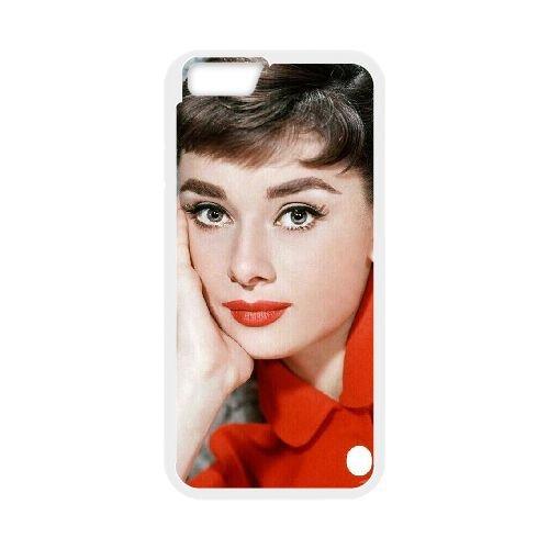 Audrey Hepburn coque iPhone 6 Plus 5.5 Inch Housse Blanc téléphone portable couverture de cas coque EBDOBCKCO13395