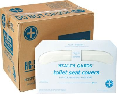 Hospital Specialty Health Gards Toilet Seat Cover , White