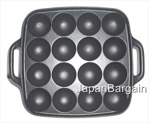 JapanBargain Cast Iron Takoyaki Plate