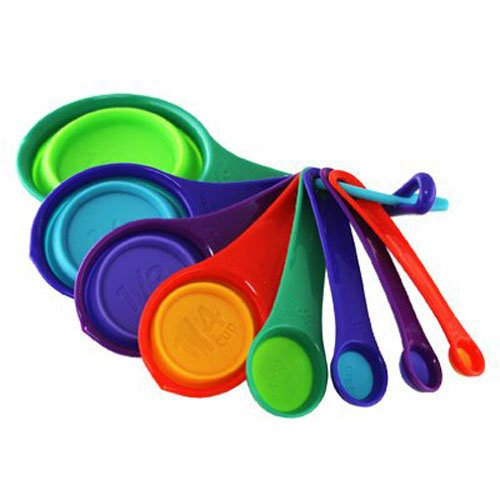 ROBINSON HOME PRODUCTS 8 Piece Squish Cups/Spoon, Multicolor